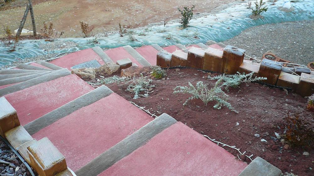 paysagiste rodez, escalier, aqua vert