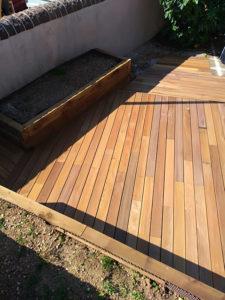 jardinières terrasses bois