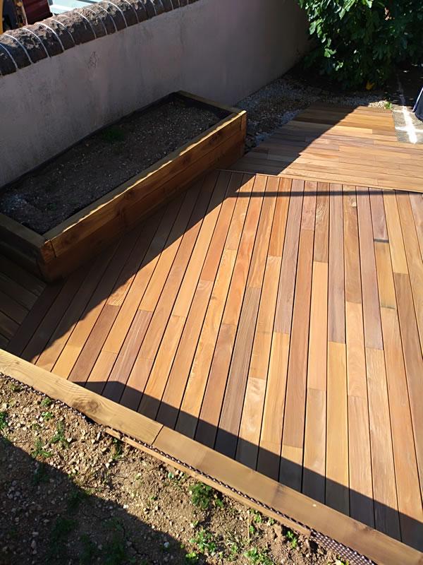 paysagiste rodez, jardinière, terrasse, bois, aqua vert