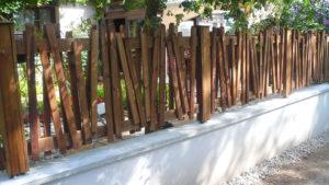paysagiste rodez, barriere bois, aqua vert